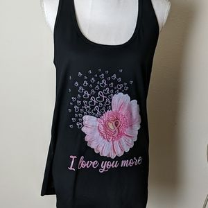 "Next Level Apparel Tops - ""I Love You More"" Tank Top NWOT"